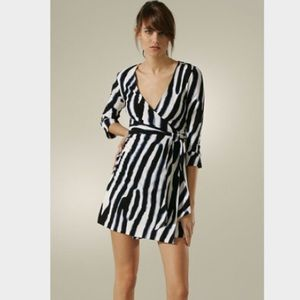 Diane Von Furstenberg 3/4 sleeve wrap dress